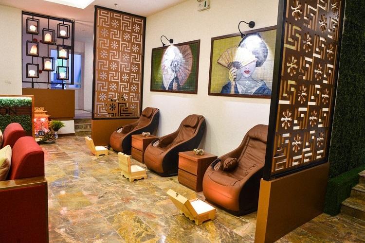 Thiết kế quán Massage xông hơi
